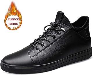 Sygjal Men's Fashionable Sneaker Casual Comfortable Winter Cotton Fleece Lined Shoes Dress Shoes (Color : Black, Size : 40 EU)
