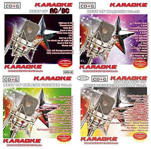Karaoke CD+G Party Set 6 - Neue Deutsche Welle - Helene Fischer - Megahits - AC/CD