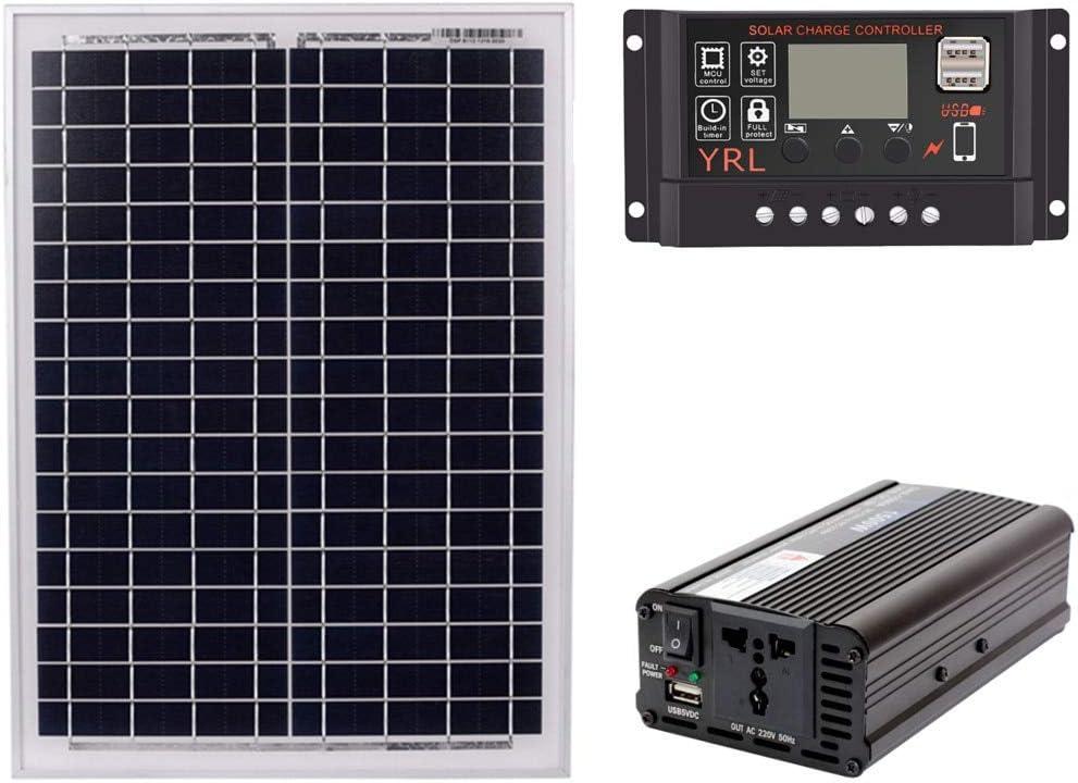 18V20W Overseas parallel import regular item Solar Panel +12V 24V Super-cheap Inverter Controller AC220V 1500W +