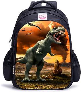 Dinosaurio 3D Impresión Realista Childrens Backpack Kindergarten Primary School Mochila Escolar Mochila de Lona Laptop Book Satchel Bolsa de Caminata - 15L / 32 x 17 x 42 cm (Dinosaurio06)