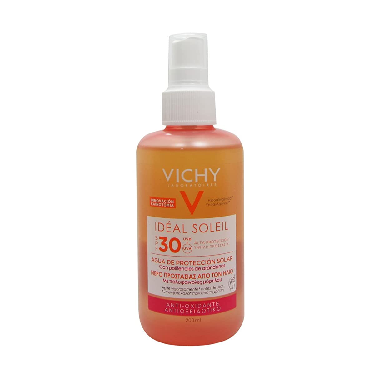 賛辞論理シャッターVichy Ideal Soleil Fresh Water Sun Protection Spf30 200ml [並行輸入品]