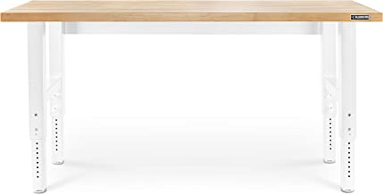 Gladiator GarageWorks GAWB06HWGW Hardwood Workbench, 6-ft, White