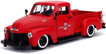 Jada 1953 Chevrolet 3100 Pickup Truck Matt Red Custom Shop Classic Truck (Las Vegas, Nevada) Just Trucks Series 1/24 Die-cast Model Car 99178