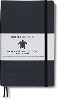 Life Changing Planner by Turtle Journal - Best Motivational Daily Planner and Daily Productivity Planner - Undated Planner and Goal Setting Journal - 5x8 Hardcover Planner in Dark Charcoal 2019