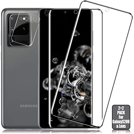 Camera Lens Screen Tempered Glass Protector for Samsung Galaxy S20 FE 5G Fingerprint and Easy to Clean 5Pcs Oil Slim HD Bubble Free Anti-Scratch Anti Water