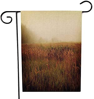 EMMTEEY Holiday Garden Flag Double Sided Burlap Decoration 12.5x18 Inch for Yard Outdoor Decor Garden Flag Vintage Nature Background