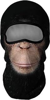 Venswell 3D Animal Balaclava Face Mask, Ski Mask, Dog Cat Wolf Shark Gorilla Funny Mask for Men Women Adult-Cycling/Motorc...