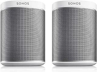 Sonos PLAY:1 2-Room Wireless Smart Speakers for Streaming Music - Starter Set Bundle (White)