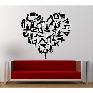 Lovemq Etiqueta De La Pared 57X57 Cm Extraíble Patrón De Amor En Forma De Corazón De