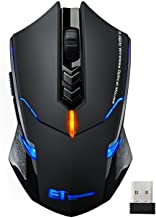 Wireless Mouse, VicTsing 2.4G USB Cordless Optical Gaming & Office Ergonomic Mice with 7 Quiet Click Buttons, 5 Adjustable DPI, Dual Energy Saving, Plug & Play for Laptop, PC, Windows, Mac etc.-Black