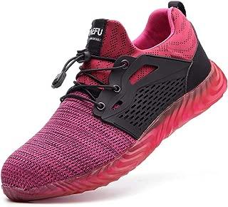 MandyQ Steel Toe Sneaker Men Women, Indestructible Construction Safety Work Shoes Slip Resistant Puncture Proof Industrial Composite Toe Shoes