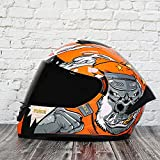 BUETR Casco de motocross casco completo batería coche casco modular casco bicicleta de montaña seguridad casco-M_Dark...