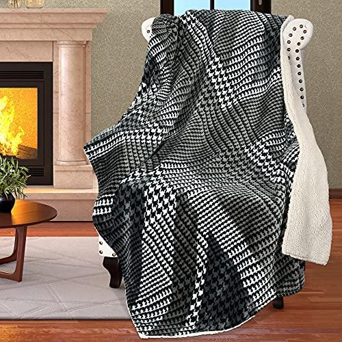 Catalonia Classy Decke mit Union Jack-Flagge, Fleece, Sherpa-Sofa-Überwurf, britische Flagge für Couch, gemütlich, weich, Plüsch, Reisedecke, warm, Bettüberwurf, 180 x 130 cm, Grau