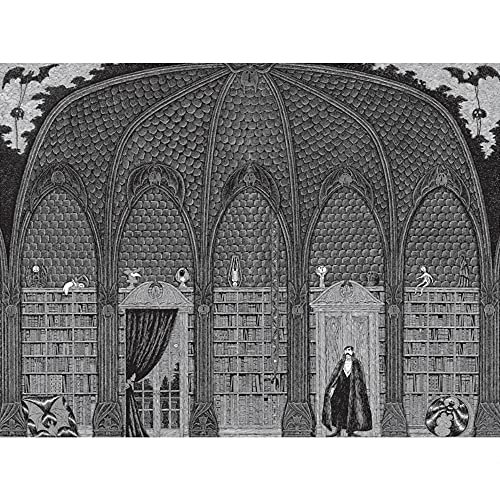 Edward Gorey - Dracula in Dr. Seward's Library: 500 Piece Puzzle