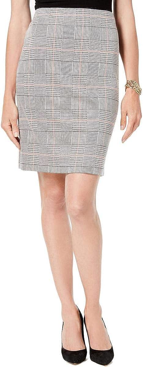 NINE WEST Women's Plaid Pencil Skirt