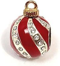 Brighton Christmas Deco Stopper Bead, J95152, Silver Finish