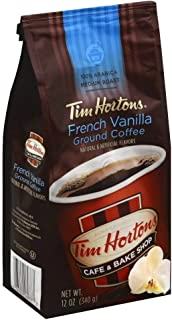 Tim Hortons French Vanilla Ground Coffee 2-12oz. Bags
