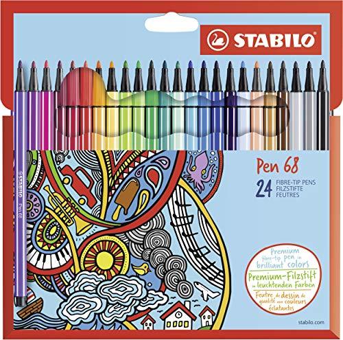 Pennarello Premium - STABILO Pen 68 - Astuccio in Cartone da 24 - Colori assortiti