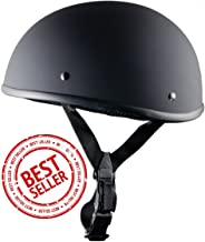 Crazy Al's - World's Smallest Motorcycle Helmet - DOT Approved Ultra Low Profile Beanie - Flat Black No Peak - Large