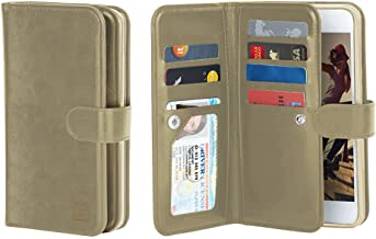 Gear Beast Flip Cover Dual Folio Case fits iPhone 7 and iPhone 8 Wallet Case Slim Protective PU Leather Case 7 Slot Card Holder Including ID Holder 2 Inner Pockets Stand Wristlet for Men and Women