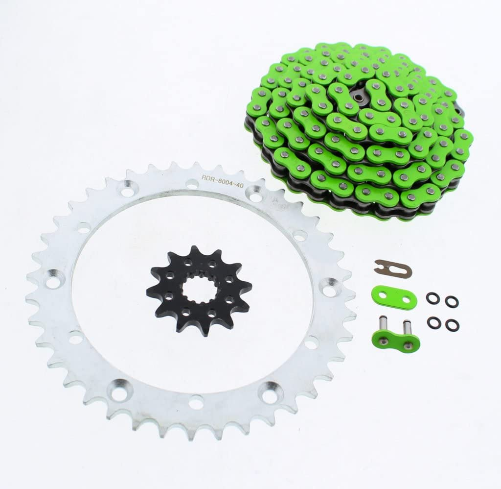 Green O-Ring Chain Silver Sprocket Store Limited time sale 12 01-2005 92L Yama fits 41