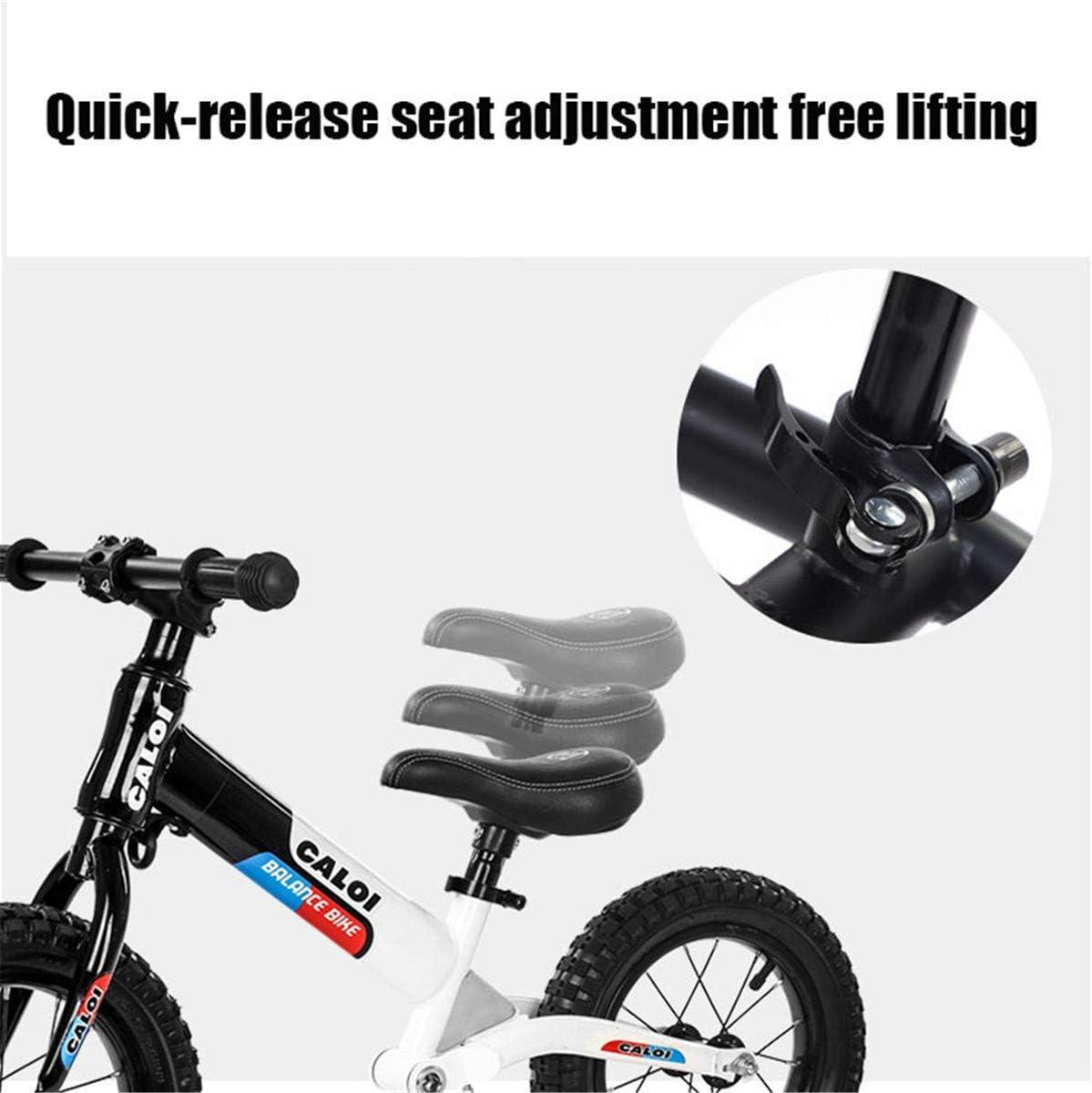 HEWEI No-Pedal Loopfiets voor kinderen van 2-6 jaar. Luchtgevulde rubberen banden in hoogte verstelbare zitting blauw Blauw