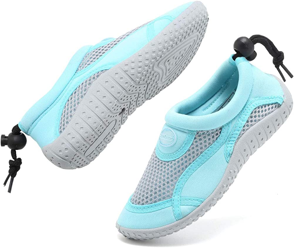 GLOBTOUCH Boys Girls Water Shoes Toddler Breathable Running Sneakers Sandals Pool Beach Athletic Slip on Aqua Sock