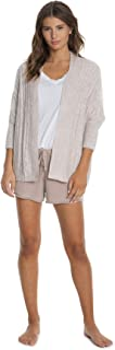CozyChic Lite Cable Shrug,Women 3/4 Sleeve Cardi, Open Front Oversized Sweaters