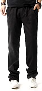 New Thin Linen Men Pants Male Loose Casual Business Trousers Full Length Skin