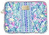 Lilly Pulitzer Soft Padded Tech Sleeve with Zip Close, Laptop Case Fits up to 13 Inch Computer, Mermaid Cove