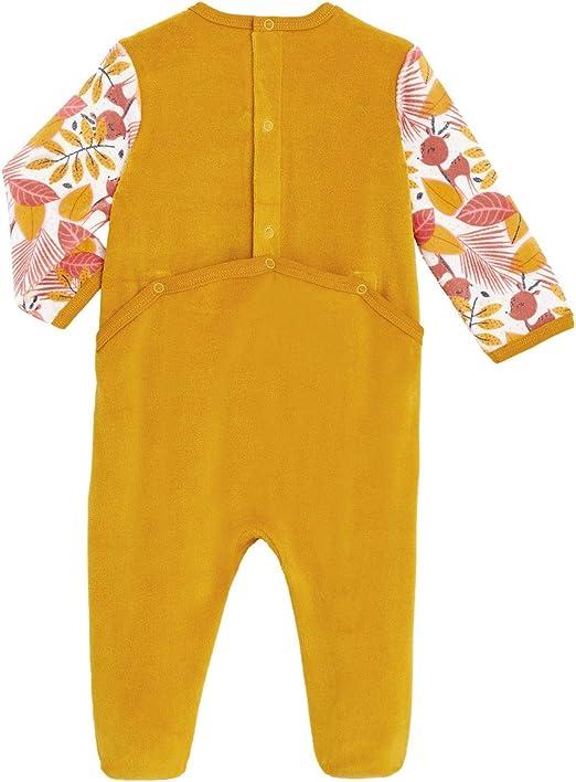 9 mois Petit B/éguin Taille Pyjama b/éb/é en velours contenant du coton bio Papaye