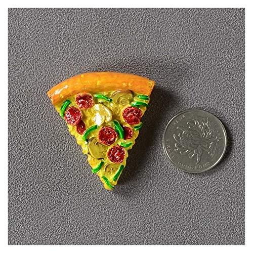 Caigaodz Imán de refrigerador Creative Simulation Food 3D Frigorífico Imanes Cono Dulce Pollo Frito Pierna Hamburguesa Decoración magnética Imán Imán De Frigorífico Pasta (Color : Triangle Pizza)