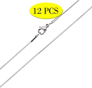 Wholesale 12 PCS 18 Inch Stainless Steel 1.0 MM Finished Thin Snake Chain Necklace