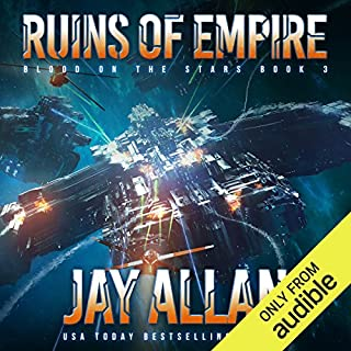 Ruins of Empire     Blood on the Stars, Book 3              Auteur(s):                                                                                                                                 Jay Allan                               Narrateur(s):                                                                                                                                 Jeffrey Kafer                      Durée: 11 h et 4 min     2 évaluations     Au global 4,5