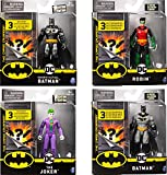 BATMAN, 4-Inch Action Figure with 3 Mystery Accessories, Mission 2