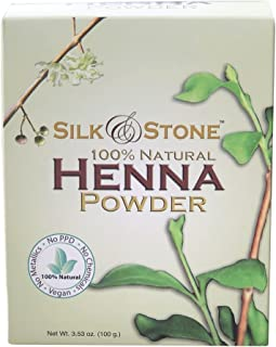 Silk & Stone 100% Pure & Natural Henna Powder- Organically Grown Hair Dye, Dark..