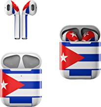 product image for Skin Decals for Apple AirPods - Cuban Flag - Sticker Wrap Fits 1st and 2nd Generation