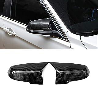 JMY Replacement Side Mirror Cover Caps fits BMW 3 Series F30 F34 1 Series F20 2 Series F22 4 Series F32 F33 F36 F87(M2) X1 Series E84 2013-2015 (Carbon Fiber)
