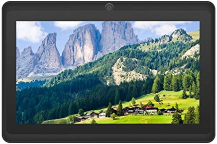 2019 New - YUNTAB 7 inch Tablet, 1GB RAM 8GB ROM, Google Android OS, Allwinner A33 1.5GHz Quad core CPU, 1024600 Touch Screen with WiFi Pre-Loaded 3D Game and Dual Camera.(Black)
