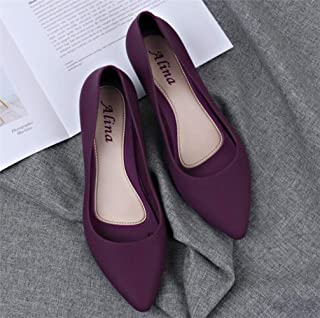 Casual Work Women Basic Candy Color Nude Heels Lady Office Pumps Black Comfortable New Wide Heels Low Block Shoes Blue