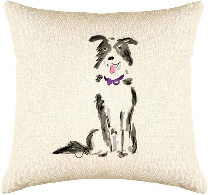 Di Lewis Dog Throw Pillow Boston Mall Cushion Cover Decorative Bor Max 86% OFF - 16x16