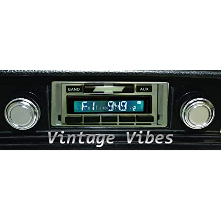 Color Change LCD Digital Display 1969-1972 Chevrolet Chevelle and//or El Camino 300 watt Custom Autosound USA-740 AM FM Car Stereo//Radio with Built-in Bluetooth AUX Inputs
