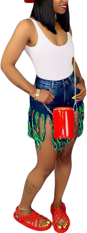 Rela Bota High Waist Butt Lifting Push Up Ripped Distressed Denim Shorts