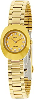 Rado Women's Gold Dial Stainless Steel Band Watch - R12559633