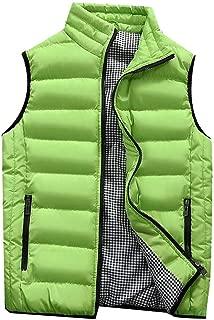 Padded Cotton Vest Mens Winter Hooded Coat Sleeveless Jacket Thick Warm