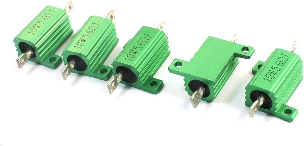 Aexit 5Pcs 5.6 Variable Resistors Max 41% OFF Ohm Shell Aluminium 10W Hea Detroit Mall 5%