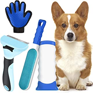 MS.DEAR Cepillo Perro Quitapelos Gato, Guante de Mascotas, Peine Rascador Quitapelos Mascotas Reutilizables, Removedor de ...