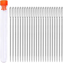 23 PCS Large Eye Sewing Needles, 2.4in Sewing Stitch Needle Handmade Leather Tool Needle Embroidery Thread Needle, Stainless Steel Yarn Knitting Needles with a 3.3in Plastic Bottle