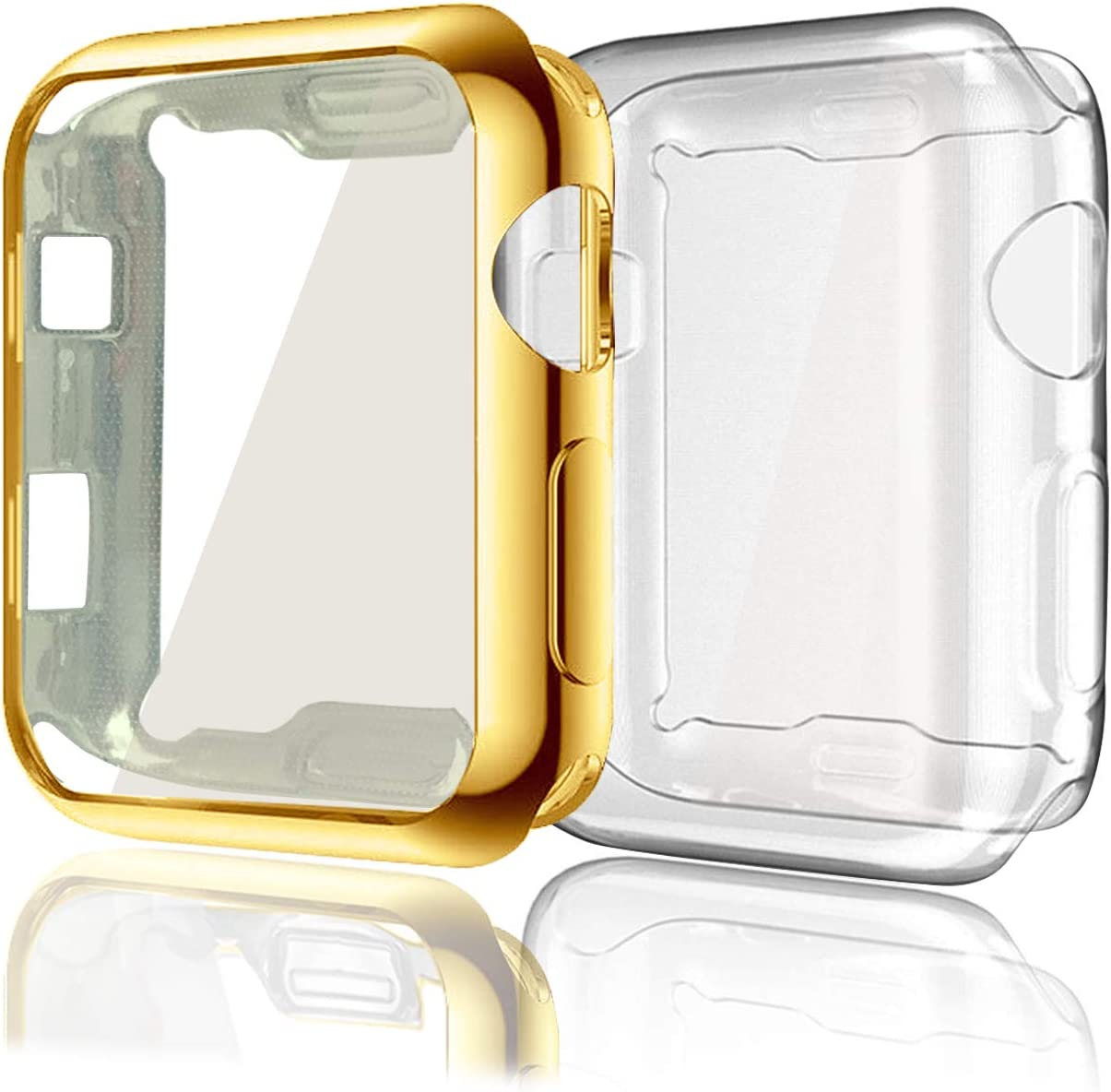 Case Compatible with Apple Watch Las Vegas Mall Series Soft 2 TPU Super popular specialty store 38mm 3 Pack