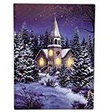 BANBERRY DESIGNS Wanddekoration Weihnachtsmotiv Kirche bei